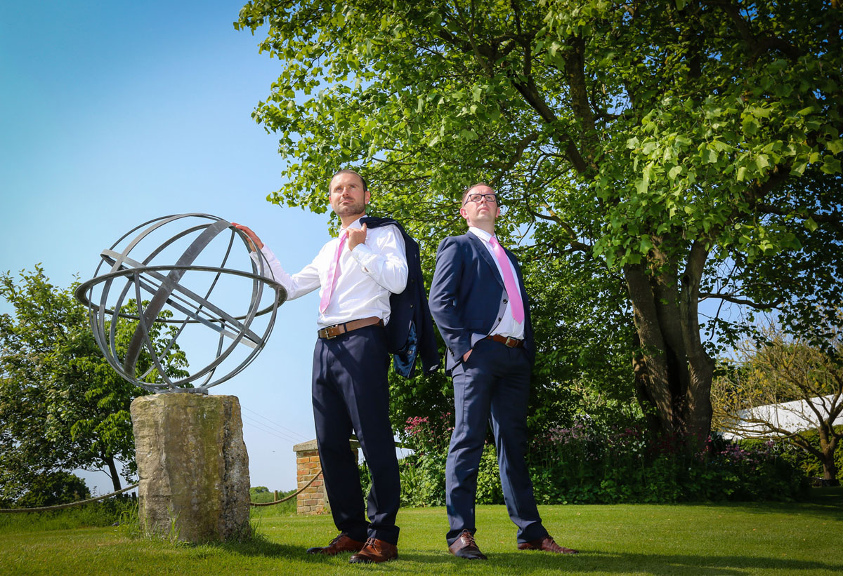 From the corn exchange to the coin exchange: Carl Selby, left, and Mark Williams are the entrepreneurs behind Elepig